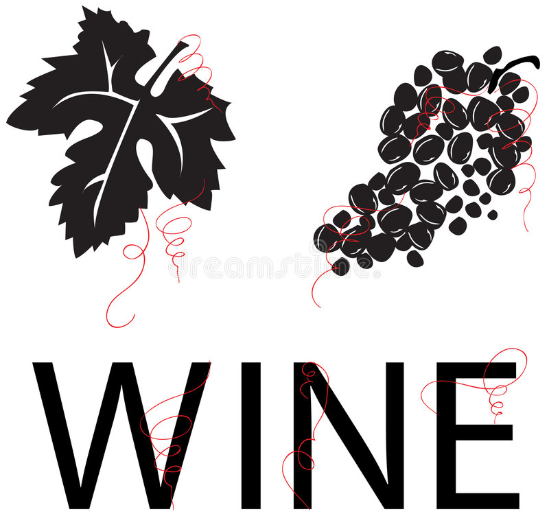 Download Grape Vine: Leaf, Grapes, & WINE [VECTOR] Stock Vector - Illustration of black, leaf: 1471210