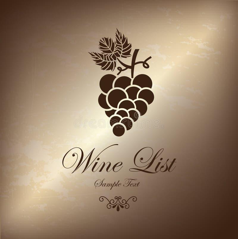 Grape wine list royalty free illustration