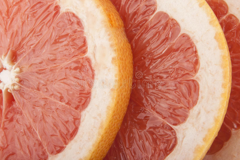 Grapefruit close-up rings stock images