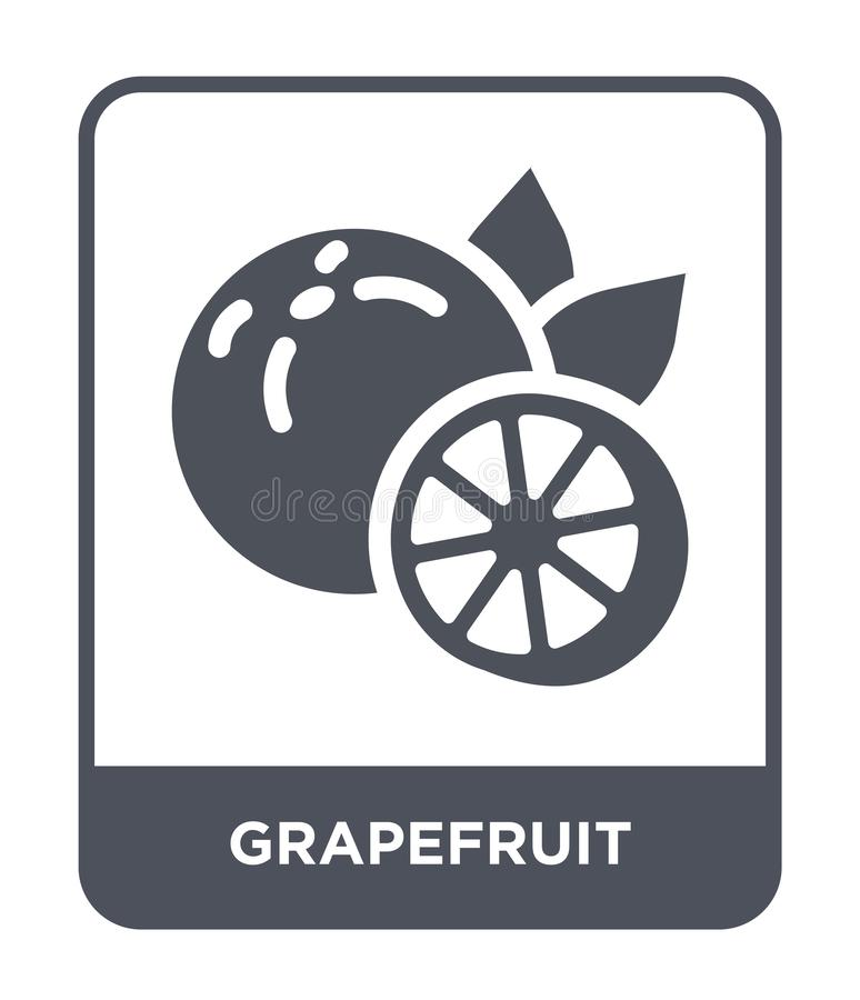 Grapefruit icon in trendy design style. grapefruit icon isolated on white background. grapefruit vector icon simple and modern. Flat symbol for web site, mobile stock illustration