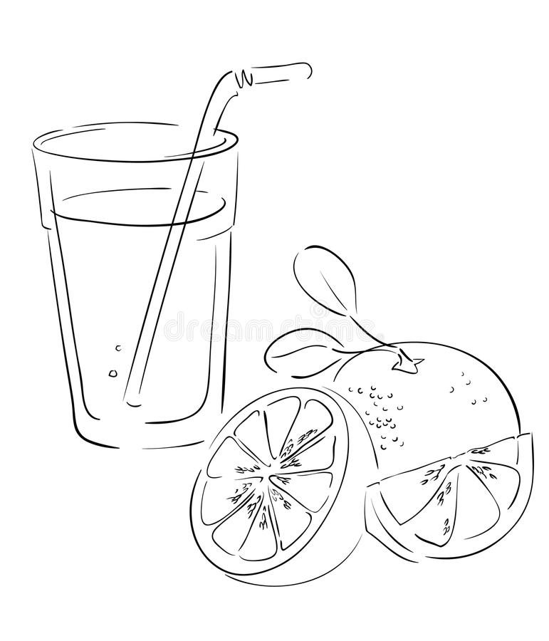 Grapefruit and juice royalty free stock image