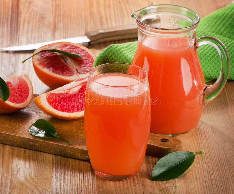 Grapefruit juice stock foto