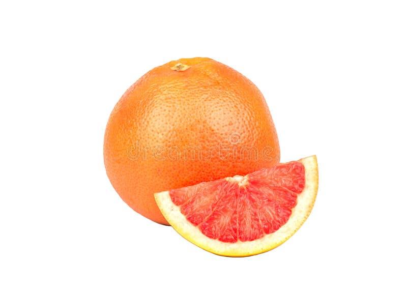 Grapefruit met plak stock foto's