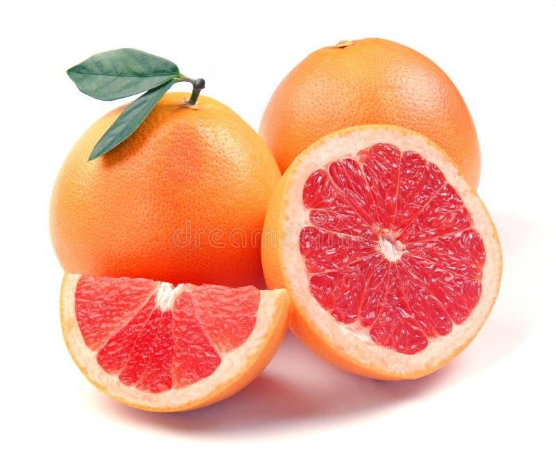 Grapefruit met segmenten royalty-vrije stock foto