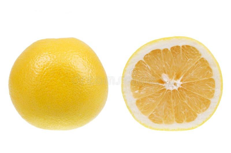 grapefruit odizolowywający nad biały kolor żółty obrazy royalty free