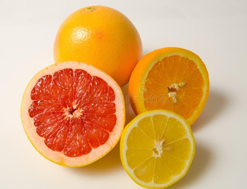 Grapefruit, sinaasappel en citroen royalty-vrije stock afbeelding