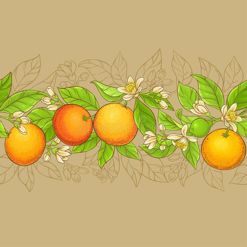 Grapefruit vectorpatroon royalty-vrije illustratie