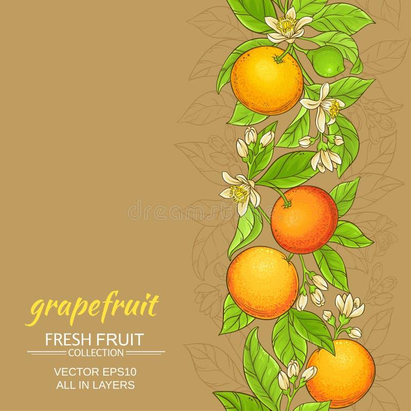 Grapefruit vectorpatroon stock illustratie