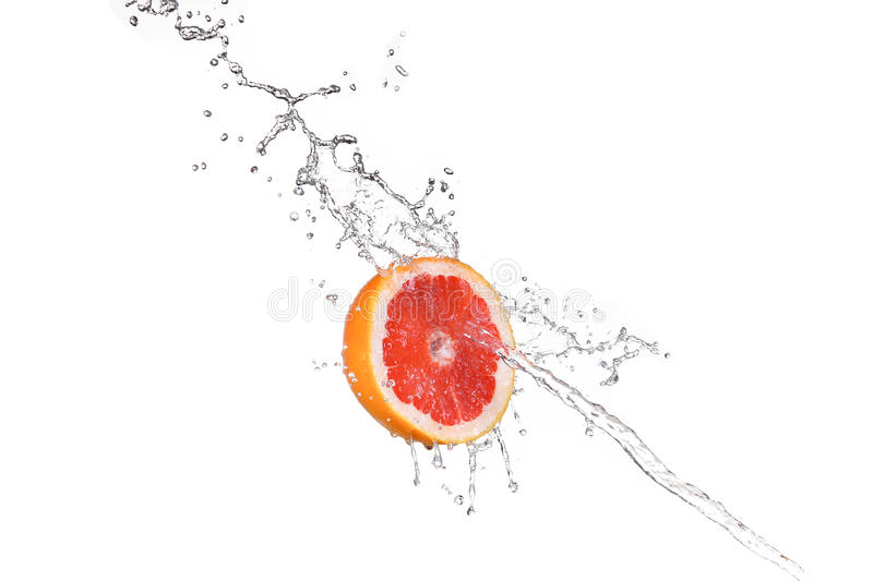 Grapefruit in water stock photography