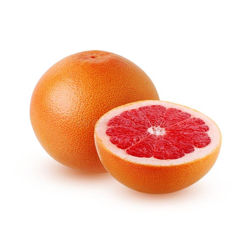 Grapefruit on a white background. royalty free stock photos
