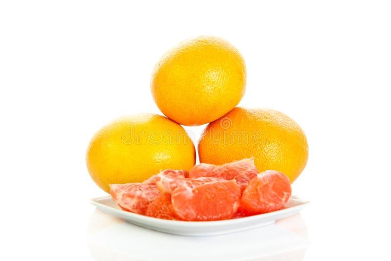 Download Grapefruitowy Odosobniony Na Białych Tło Owoc Karmowych Zdjęcie Stock - Obraz złożonej z odosobniony, kalorie: 53784982