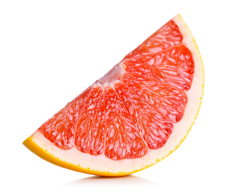 Grapefruitowy plasterek zdjęcie stock