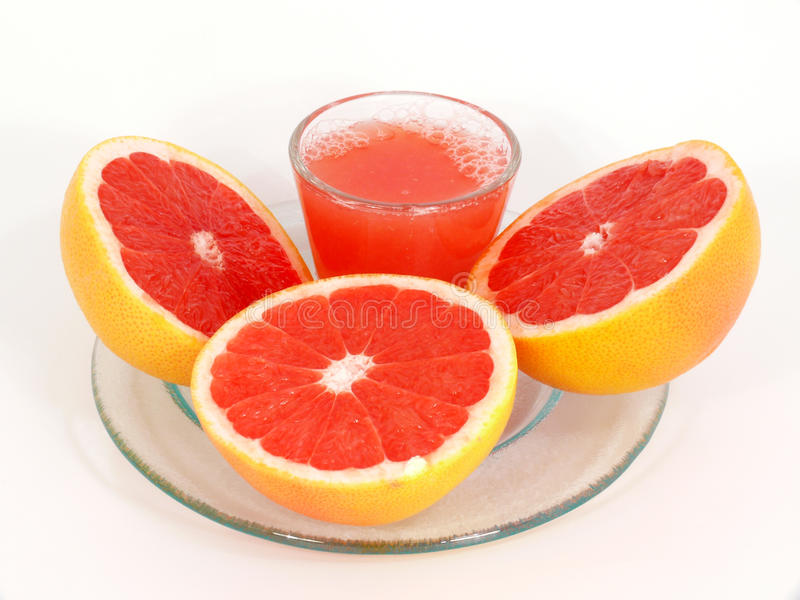 grapefruitowy sok zdjęcie stock
