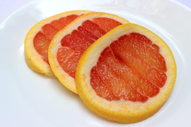 Grapefruitplakken op een rij stock illustratie