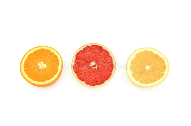 Grapefruits en sinaasappel stock fotografie