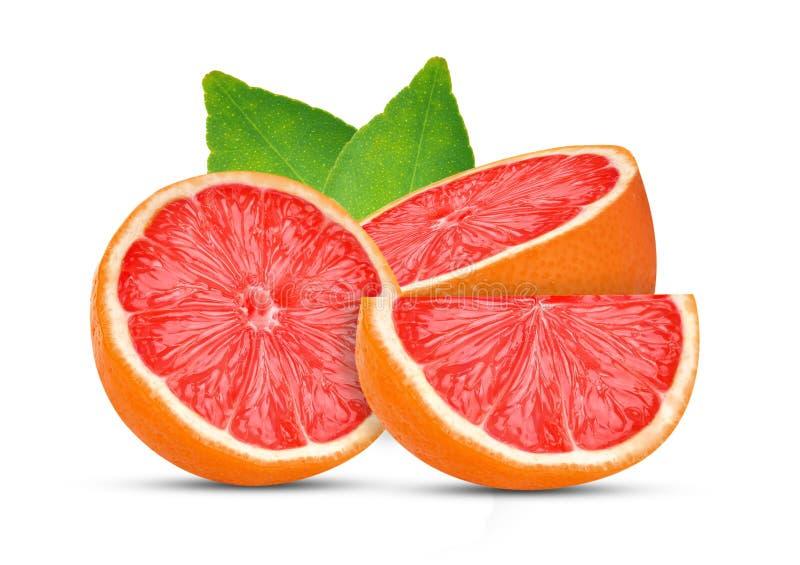 Grapefruits odizolowywający na białym tle zdjęcie royalty free