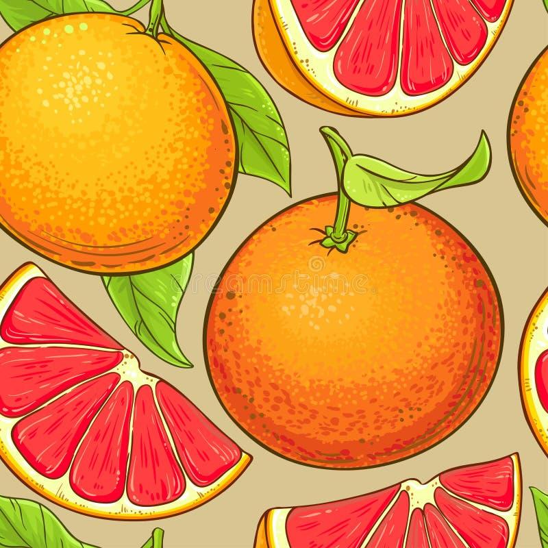 Grapefruitvruchten vectorpatroon royalty-vrije illustratie