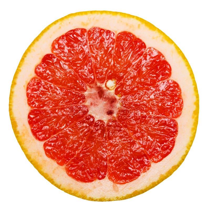 grapefrukt isolerad skivawhite arkivfoton