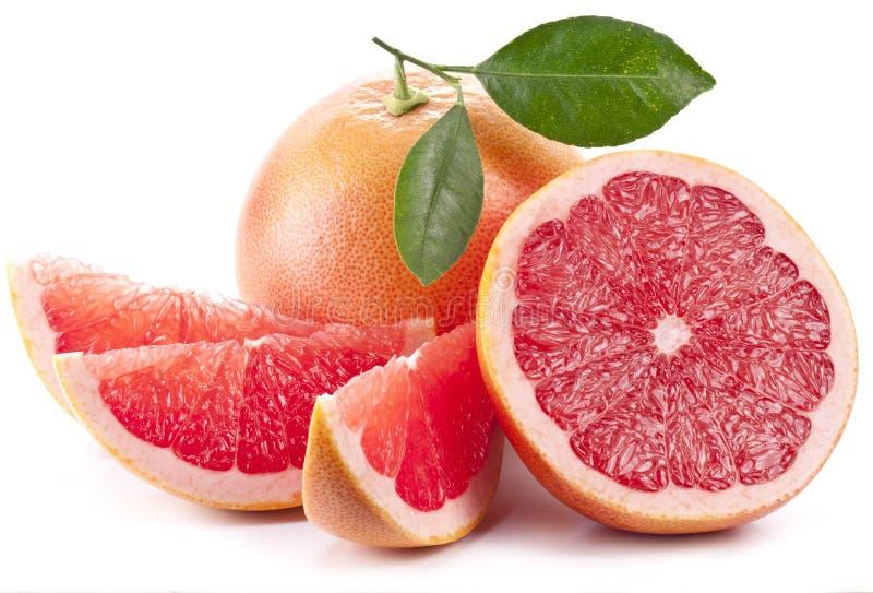 Grapefrukt med skivor. arkivfoto