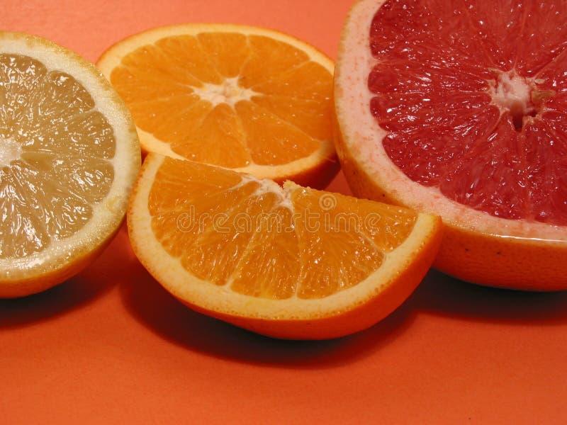 grapefruktcitronorange royaltyfri foto