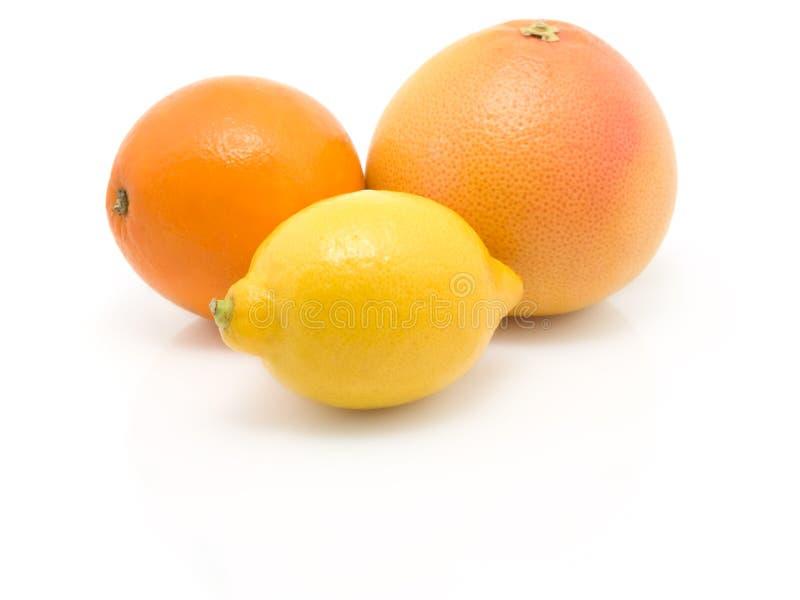 grapefruktcitronorange arkivbild