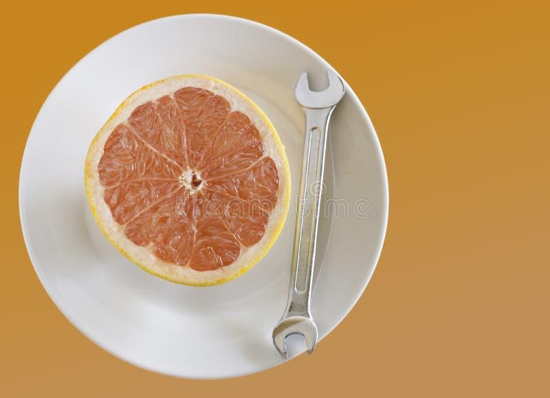 Grapefuit can fix it. royalty free stock photos