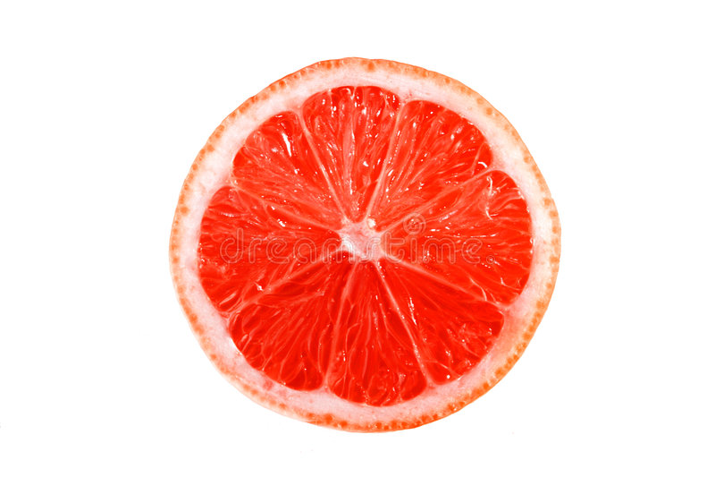 Grapefuit op een witte achtergrond stock afbeelding
