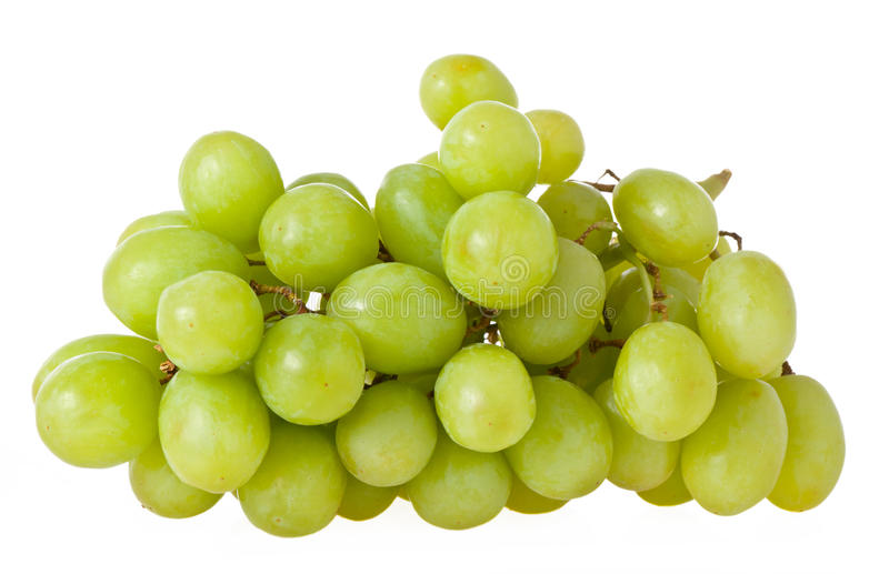 Grapes. Green grapes isolated on white background