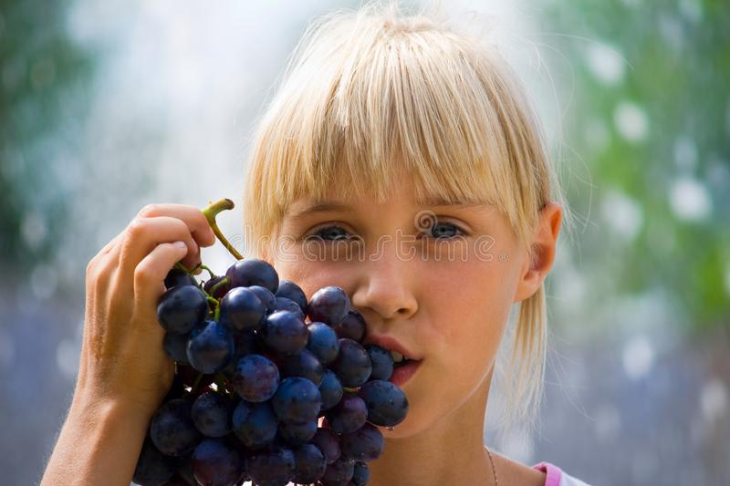 Download Grapes stock image. Image of fresh, look, appetizing, lips - 8987445