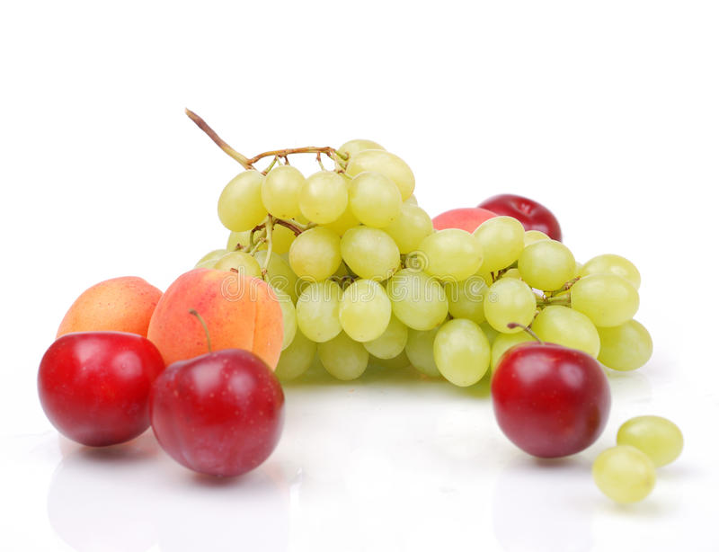 Download Grapes, apricots and plums stock image. Image of plum - 14850173
