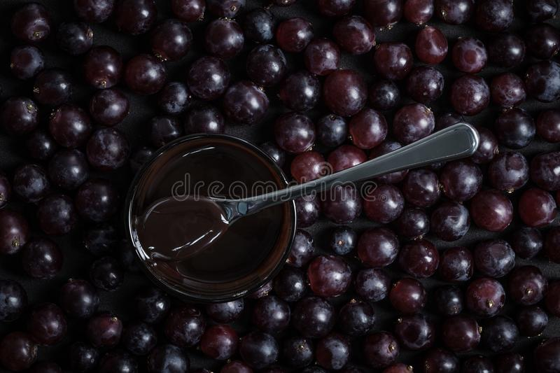 Grapes arranged in the background stock photos