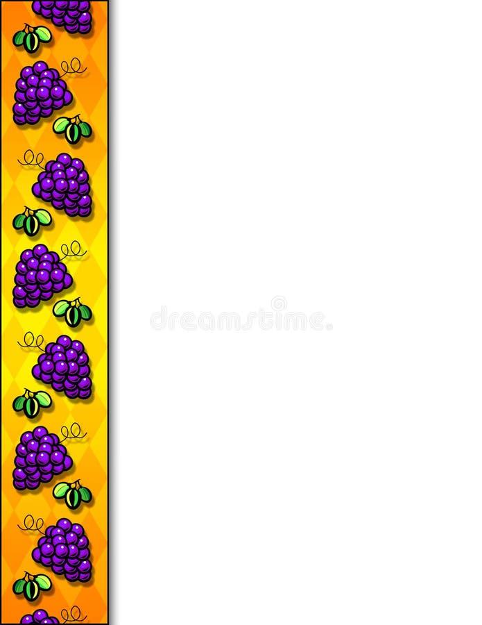 Grapes border royalty free stock photo