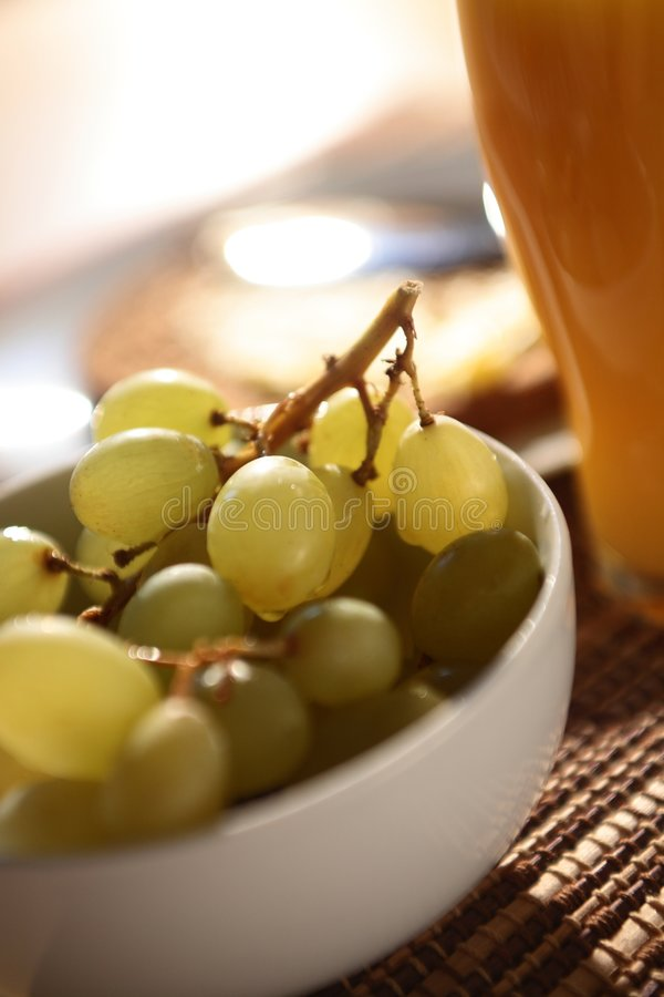 Download Grapes for Breakfast stock image. Image of white, sunlight - 7083989