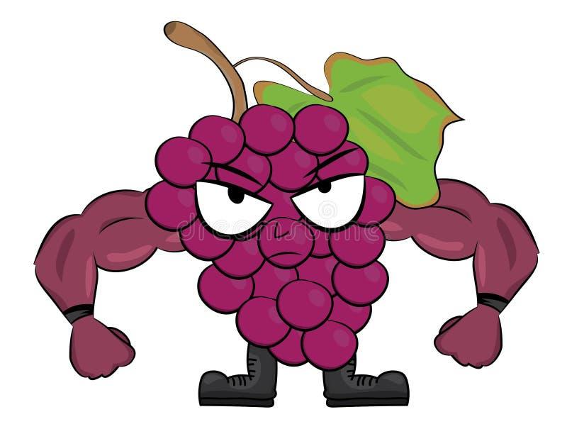 Grapes cartoon character stock images