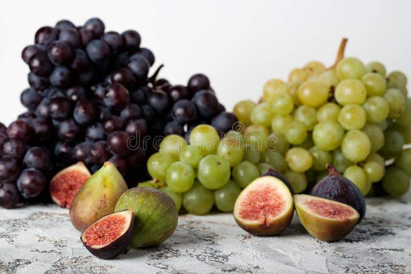 Grapes and figs stock image