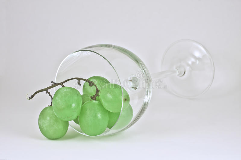 Grapes and glass stock images