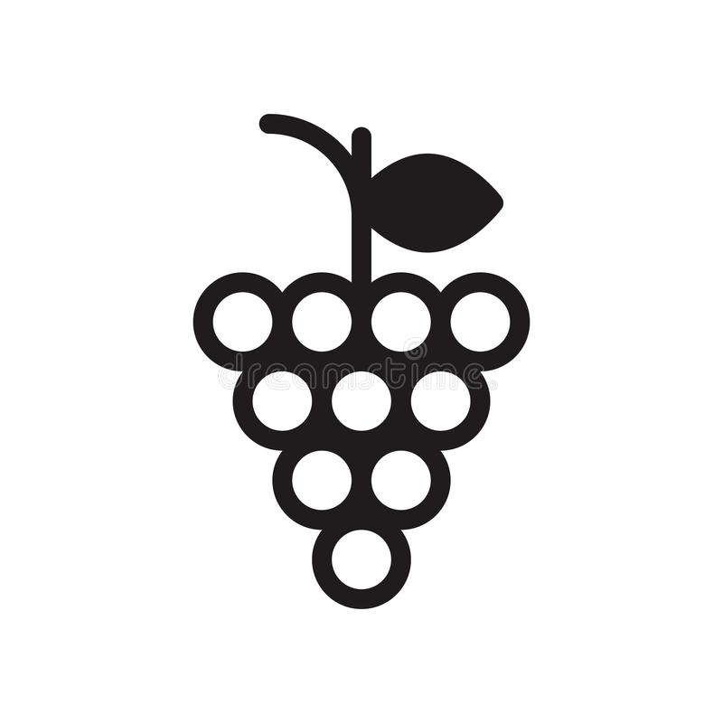 Grapes glyph flat vector icon. Grapes vector icon. Elements for mobile concept and web apps. Thin line icons for website design and development, app development royalty free illustration