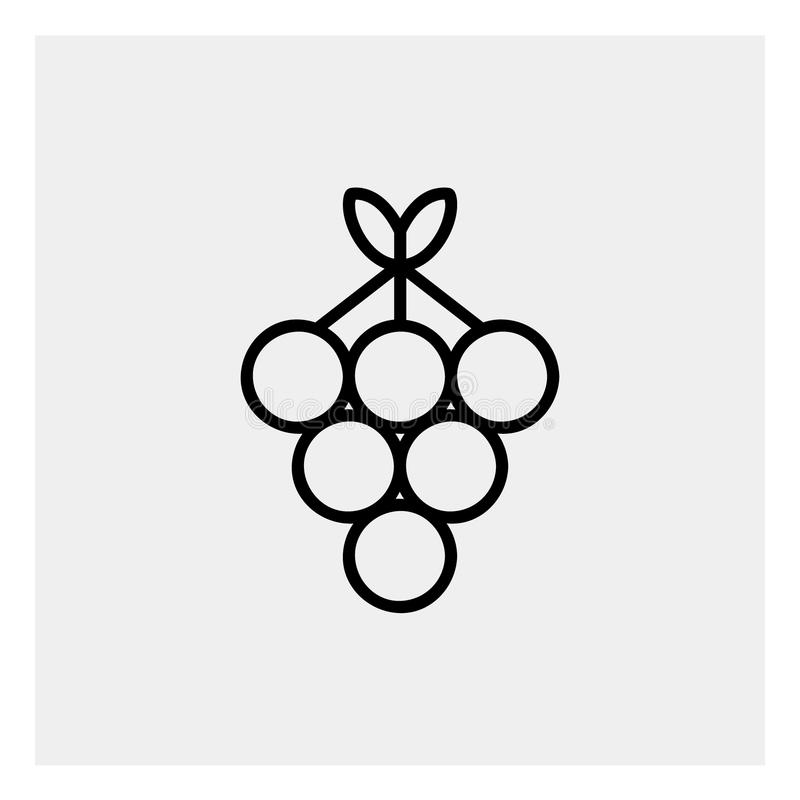 Grapes icon outline stock illustration