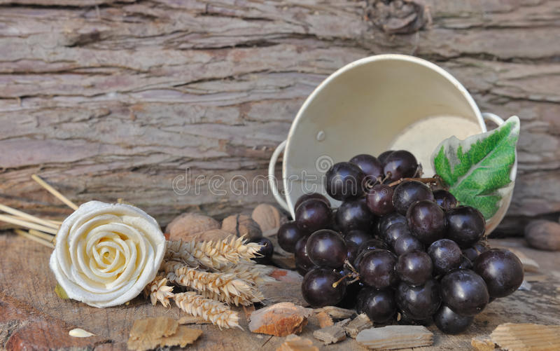 Download Grapes in a jar stock image. Image of grapes, wooden - 33425631