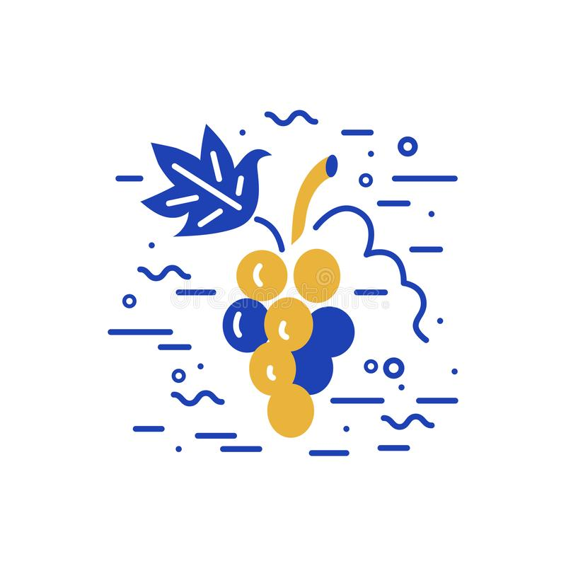 Grapes logo design royalty free illustration