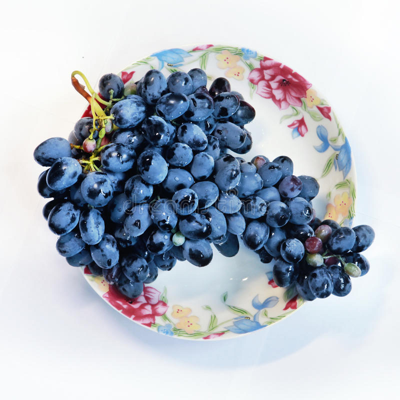 Download Grapes on plate stock photo. Image of green, grapes, cabernet - 35545778