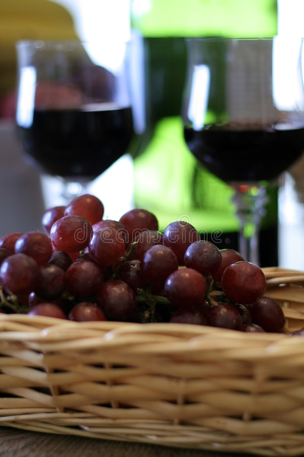 Download Grapes Still LIfe stock photo. Image of grapes, wicker - 1758932