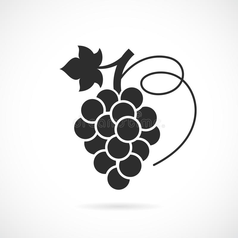 Grapes vector icon stock illustration