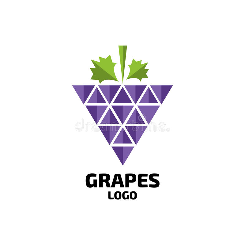 Free Grapes Vector Logo. Wine, Vine Logo. Grapes Logo Royalty Free Stock Image - 95289646