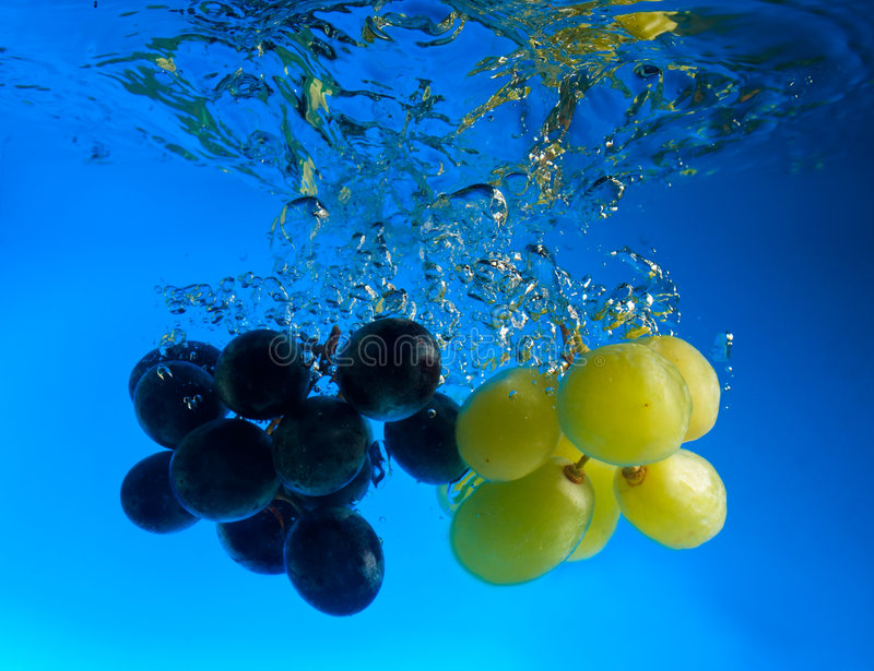 Grapes In Water Stock Image
