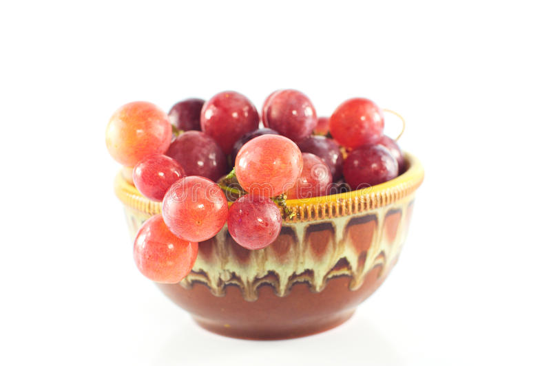 Grapes on white background royalty free stock image