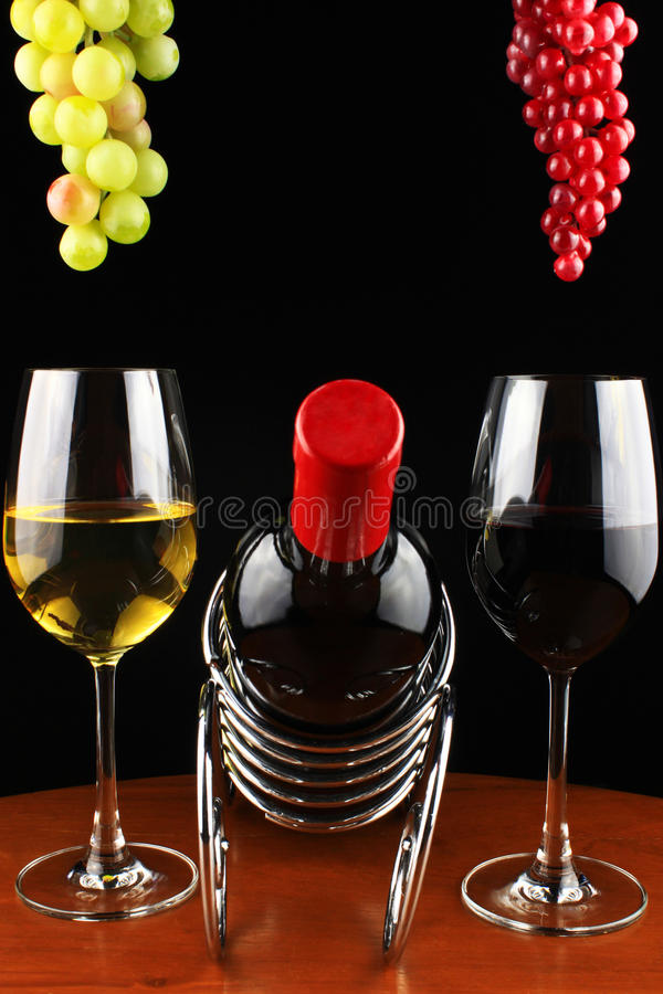 Grapes and wine. royalty free stock photo