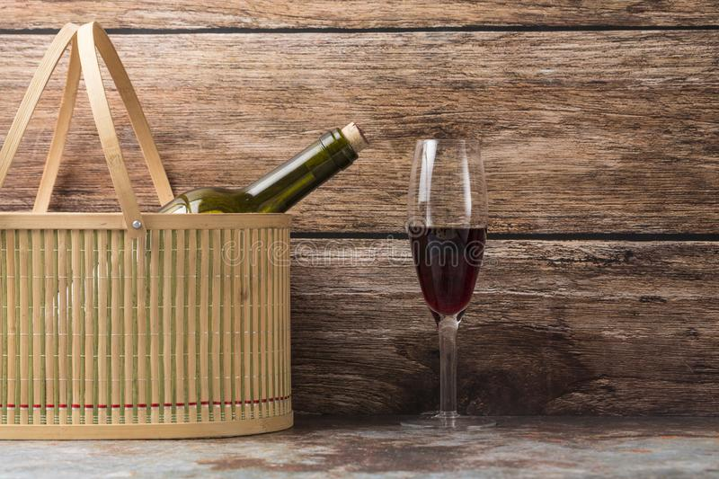 Grapes and wine. Ripe grapes and delicious wine royalty free stock photos