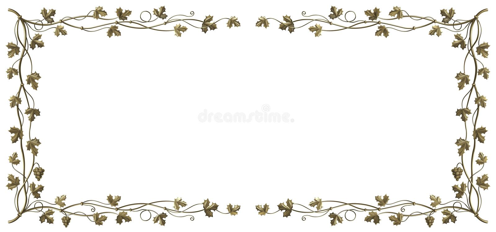 Download Grapevine frame stock vector. Image of metal, organic - 17464162