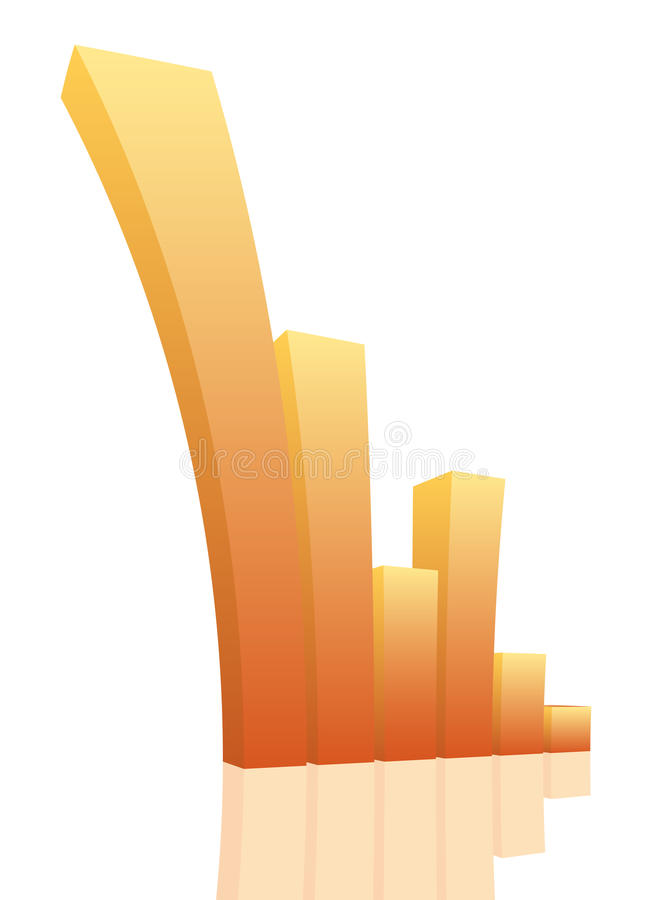Graph. Vector illustration of graph. Graph is going up strongly royalty free illustration